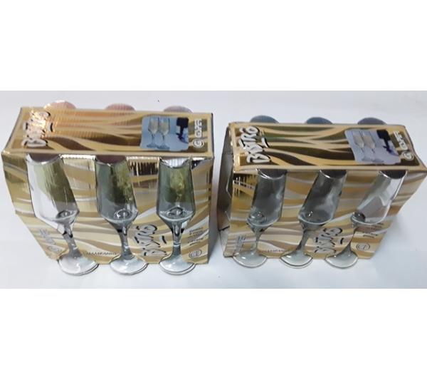 12 Taças cisper bristô de vidro  - 1