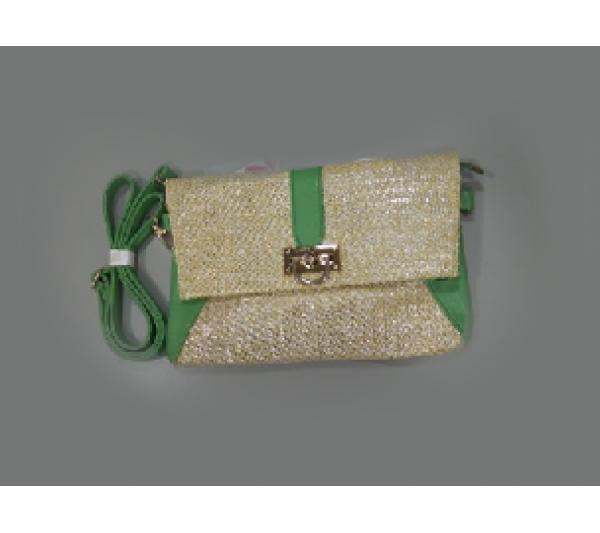 Bolsa de palha c/ detalhes colorido - 1