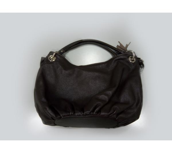 Bolsa marrom bordada - 2