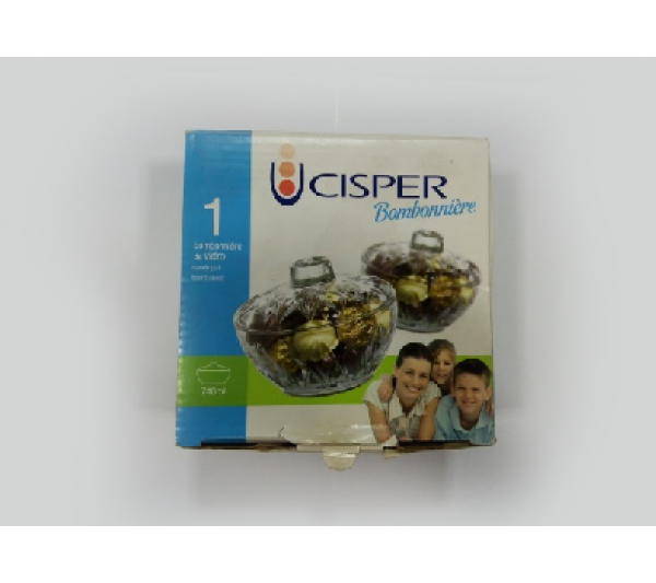 Bomboniere de vidro 740 Ml com tampa Cisper - 2