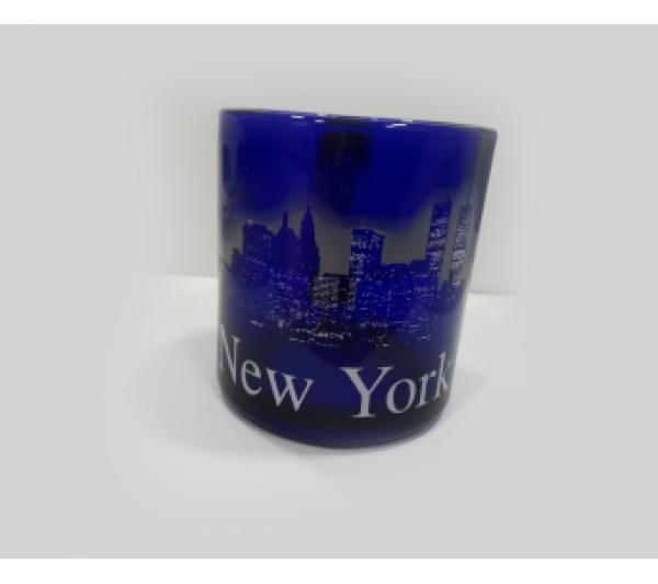 Caneca de vidro azul New York - 1