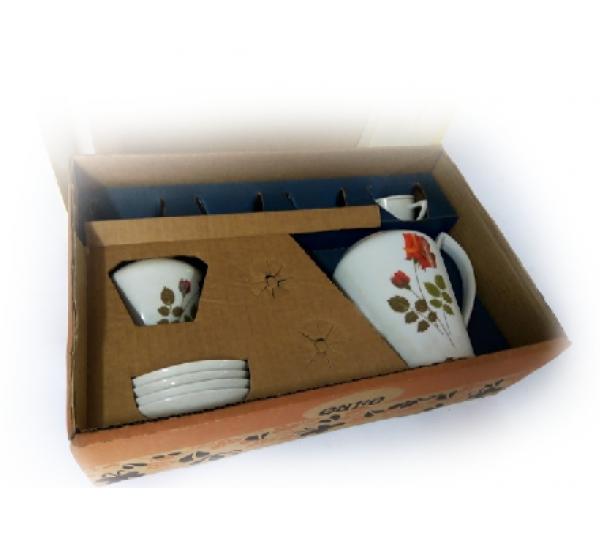 Cj. café 6 peças porcelana pozzani jundiai - 2