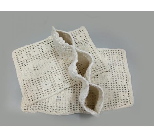 Jogo para banheiro crochê 3 peças - 2
